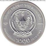 1000 франков 2009, серебро (Ag 925) | Овен — Руанда, фото 1
