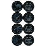 Набор монет 2008, серебро (Ag 925) | Ночные животные — Сьерра-Леоне, фото 1