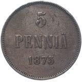 5 пенни 1875 года, фото 1