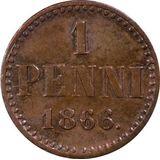 1 пенни 1866 года, фото 1