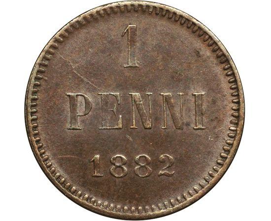 1 пенни 1882 года Медь, фото 2