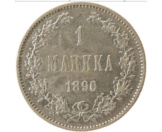 1 марка 1890 года Серебро, фото 2