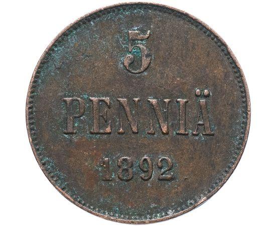 5 пенни 1892 года Медь, фото 2