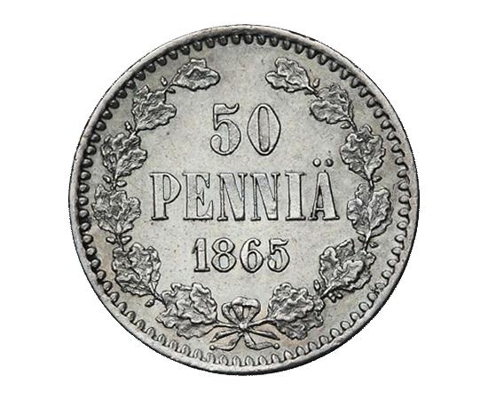 50 пенни 1865 года, фото 2