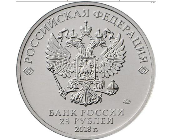 25 рублей 2017 Чемпионат мира по футболу FIFA 2018 в России (в специальном исполнении), фото 2